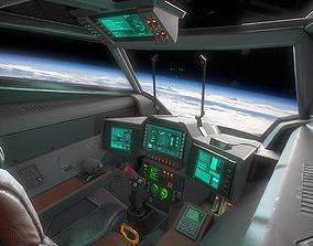 3D model Stingray MKIII Sci Fi Fighter Cockpit