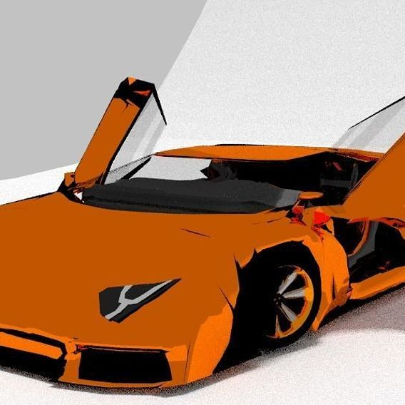 Lamborghini Aventador open the door