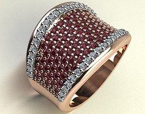 3D print model rings wedding women ring