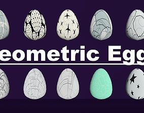 3D model Geometric Eggs Pack Collect Monster Hatching 2
