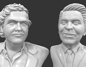 Escobar and Reagan 3D printable portraits pack