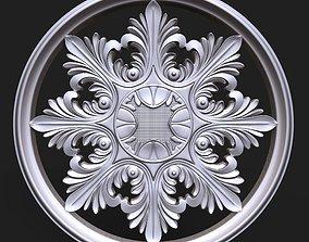 3D print model Carved Rosette decor element 01