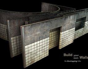 3D model realtime Wall - set D