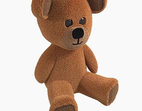 3D asset Toy Teddy Bear fur soft