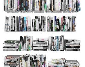 Books 150 pieces 4-1-2 3D model