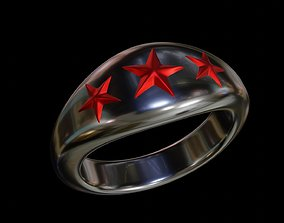 5 point star ring 3D printable model
