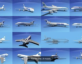 airliners 3D model PanAm Jets