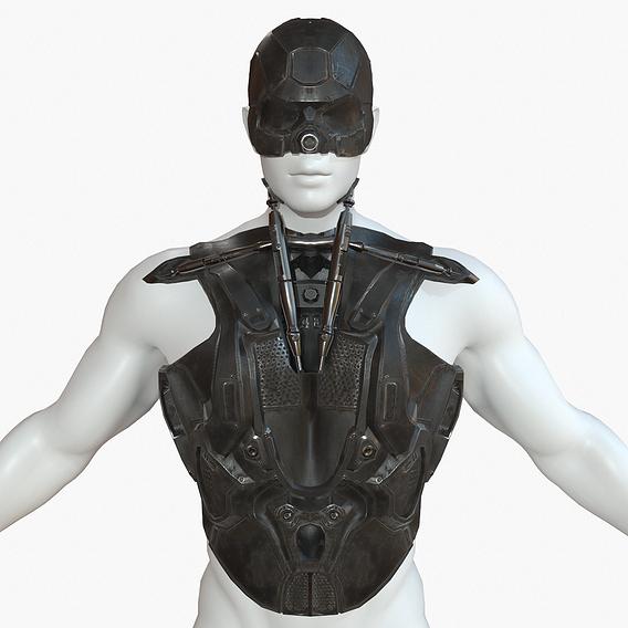 Cyberpunk Robot Armor
