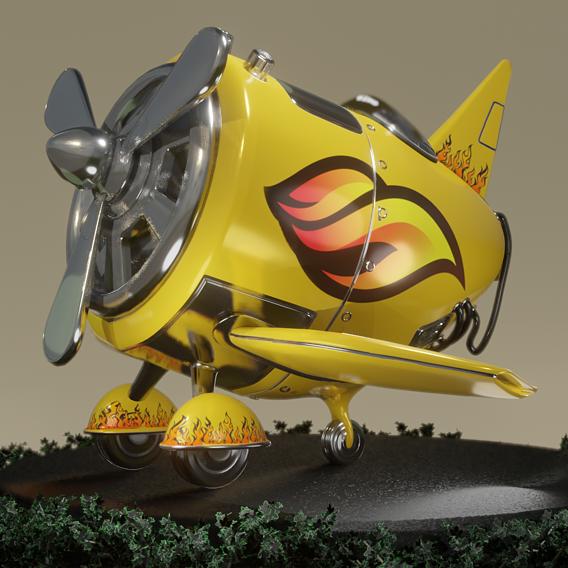 Stylized Airplane PBR 3D model