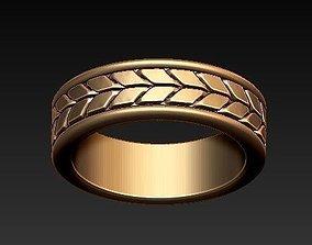 3D printable model diamond-ring chain wedding ring