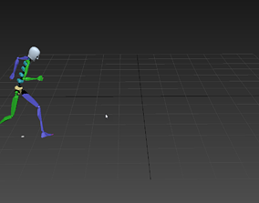 3D model Parkour jump and running 3