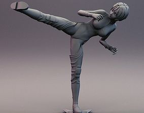 3D print model Sexy Anime Ninja Side Kick Pose