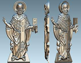 3D print model St Nikolay icon