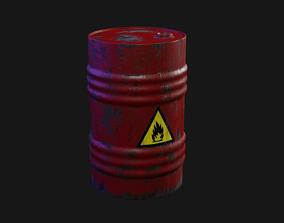 3D model game-ready Oil barrel wine