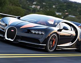 3D model rigged Bugatti Chiron fastest