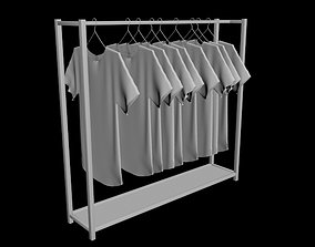 unisex woman women man men tshirt shirt rack folded 3D