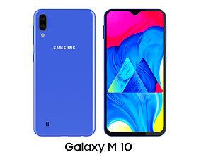 3D model Samsung Galaxy M10 Blue