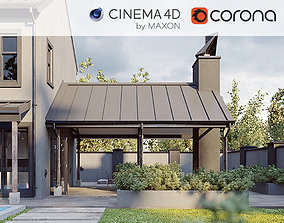 Corona - C4D scene files - Modern Farmhouse 3D model