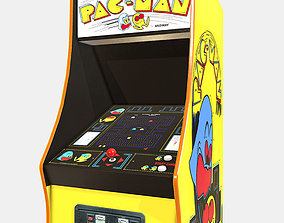 Low Poly PBR Pacman Cabinet 3D model low-poly