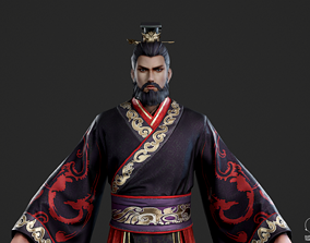 Ancient Chinese emperors monarch Martial First 3D asset 2