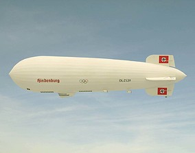 3D model Hindenburg Zeppelin