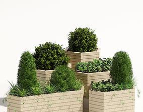 Trough planter 3D model