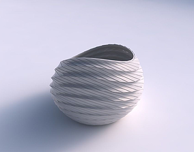 Bowl skewed with twisted grid plates 3D printable model