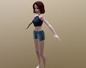 Misty - Rigged Anime Character 3D asset