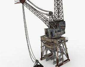 Old Industrial Crane 3D asset