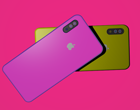 3D asset iPhone X Low Poly