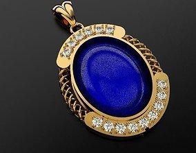 3D printable model necklace Sapphire