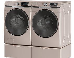 3D model Samsung Washer Dryer WF45R6100AC