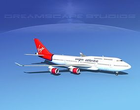 Boeing 747-400 Virgin Atlantic 3D