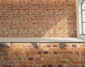 3D asset Brick wall Old brick 5