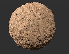 3D model muddy stone wall Seamless PBR texture