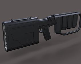 EMP rifle from movie Dark Knight rises 3D