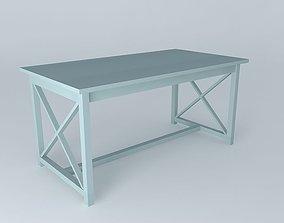 3D model NEWPORT DINNER TABLE 160 GREY