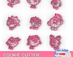 3D print model COOKIE CUTTER 9 KikOriki PACK