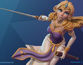 Princess Zelda Figurine 3D Print Model
