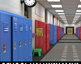 3D School Hallway MAYA