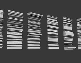 3D asset Classic Moldings Sections Profiles SPline for