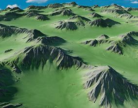 large Mountainous Terrain 8k with Element3D