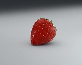 realistic strawberry 3D model