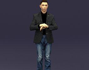 Refined black jacket man 0421 3D Print ready