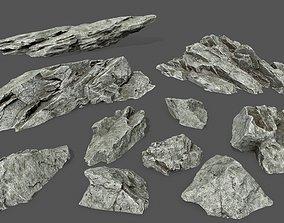 3D asset rock set 3