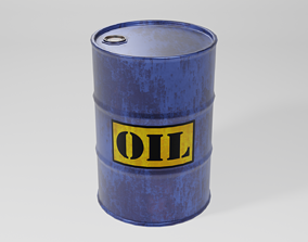3D asset Industrial Oil Drum