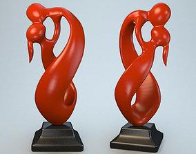 Statuette endless kiss P 3D print model