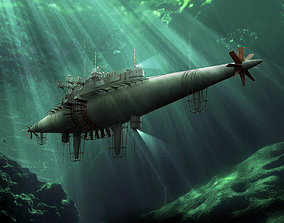 ship Submarine 3D model