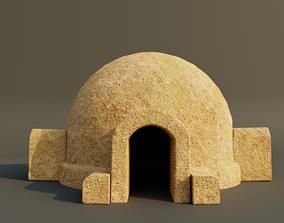 3D asset Tatooine Dwelling Hut