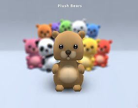 Plush Bears 3D asset
